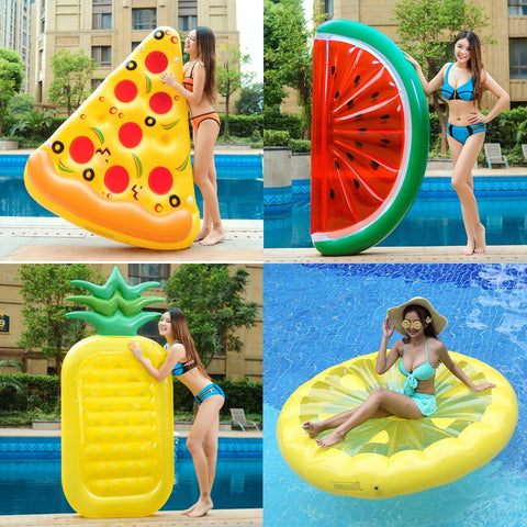 Giant Swan Watermelon Pineapple Flamingo  Unicorn Inflatable Pool Float