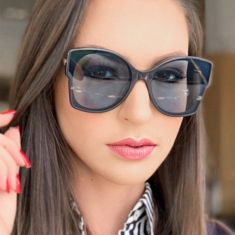 sunglasses woman 2019 fashion brand Cat's eye Sexy women's sunglasses Luxury Designer butterfly glasses Shades Eyewear