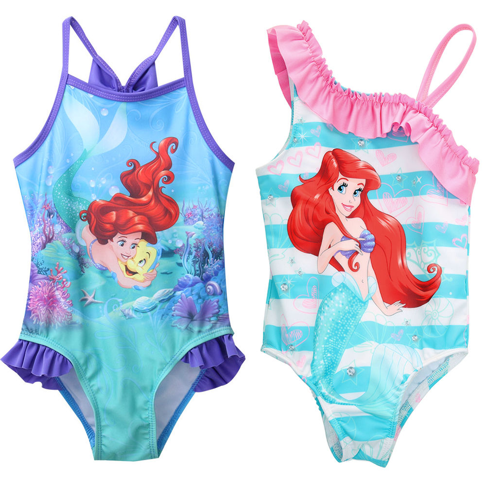 Princess Children Girls Cartoon Mermaid Swimsuit