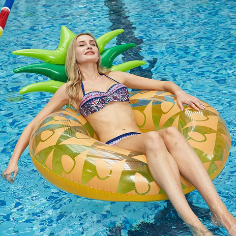 180*120cm Giant Swimming Circle Pineapple Inflatable Pool Float
