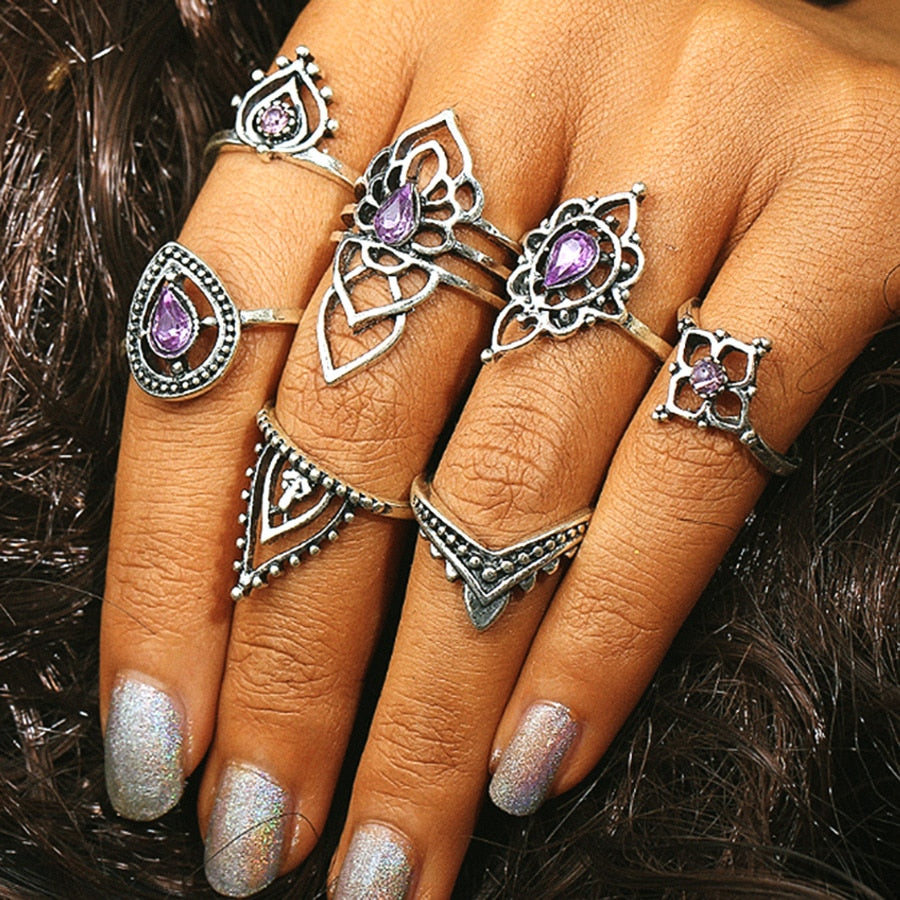 Mystic World (7PCS Vintage Knuckle Rings)