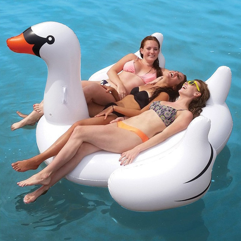 60 Inch 1.5M Giant Inflatable Swan Pool Float