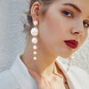 Big Created Pearl Earrings