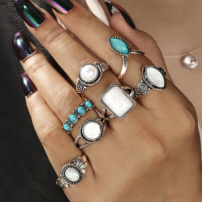 Luxury love-7Pcs Set Statement Knuckle Rings