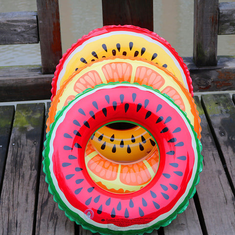 60/70/80/90CM Gaint Watermelon Orange Lemon Inflatable Swimming Ring Adult Kids Inflatable Pool Float Circle Water Beach Fun Toy