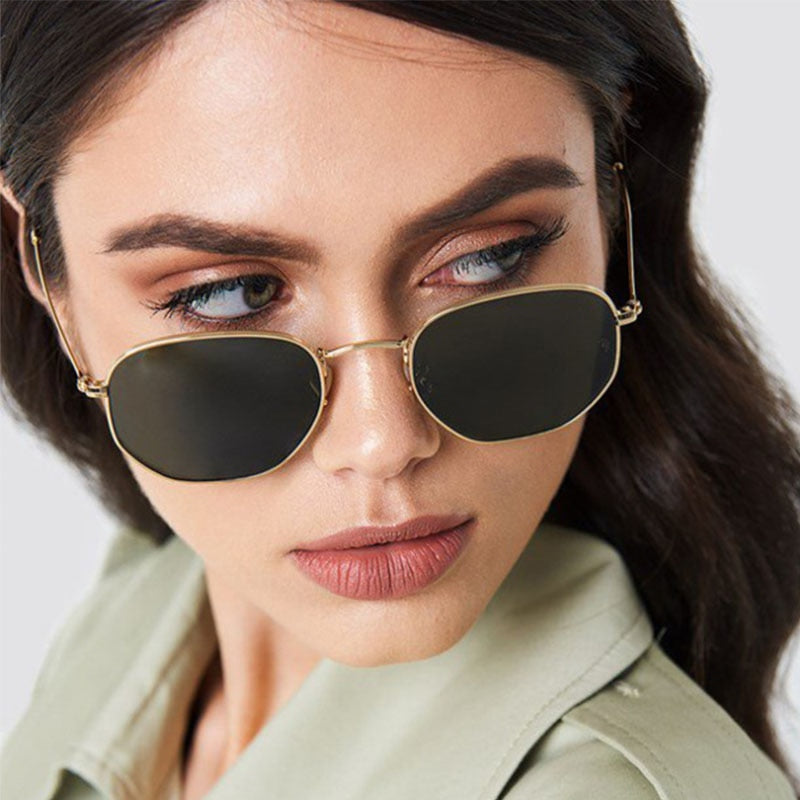 Square  Sexy small  Metal  shades sunglasses