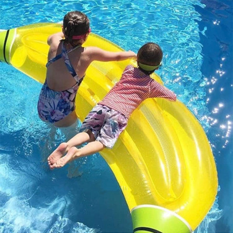 180 Giant Inflatable Banana Pool Float Lie-on Fruit Swimming