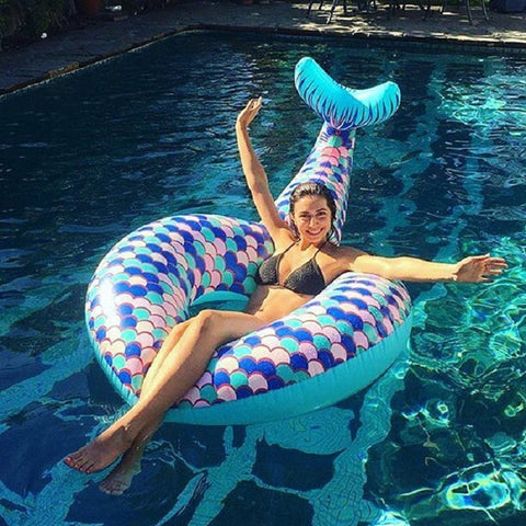 180cm Mermaid Inflatable Swimming Ring for Adult Kids