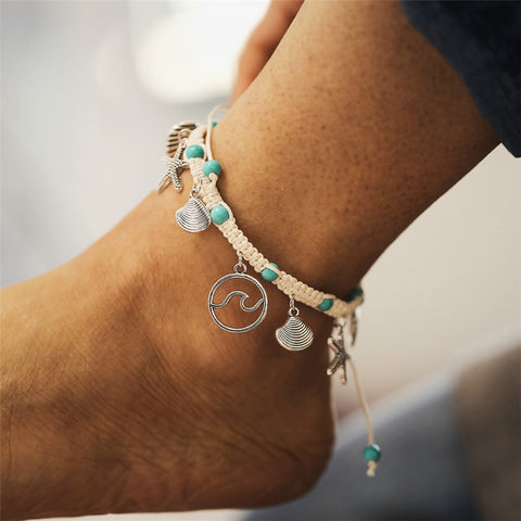 Handmade Cord Chain Anklet