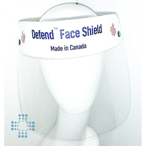 "Defend Face Shield made in Canada, Reusable - Dimension: 11"" x 9"", PPE Material"
