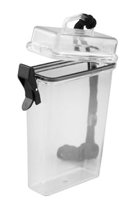 "Waterproof Storage Container In Translucent with Lanyard (5 1/4""x3""x1 1/4"")"