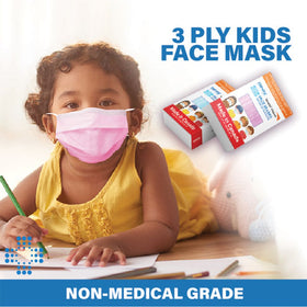 Child Face Mask Blue or Pink - Made in Canada
