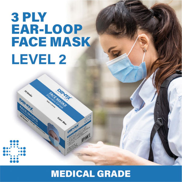Dentx Dent-x level 2 face mask for added safety and security for Canadians