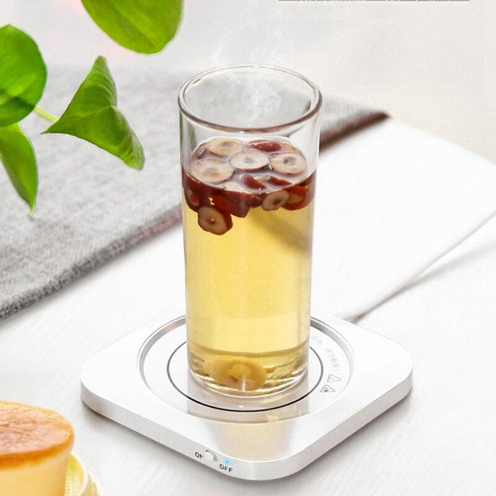 55°C Smart Water Cup Heating Coaster, with USB Power Supply