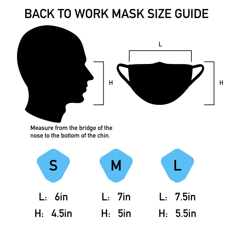 Back to Work Mask - Large Grey