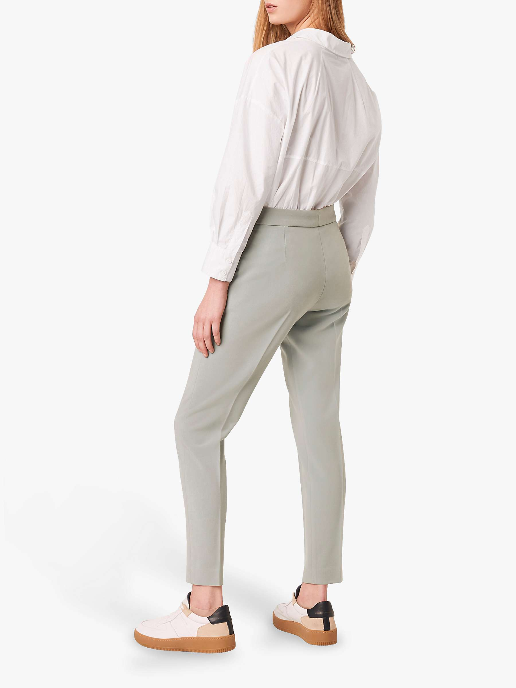 Boh Whisper Tailored Trousers in Silver Blue by French Connection