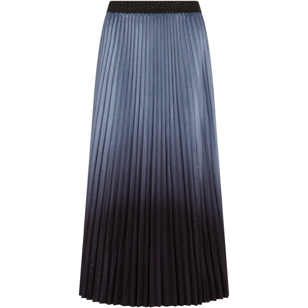 Long Pleated Skirt in Midnight Ombre by Coster Copenhagen