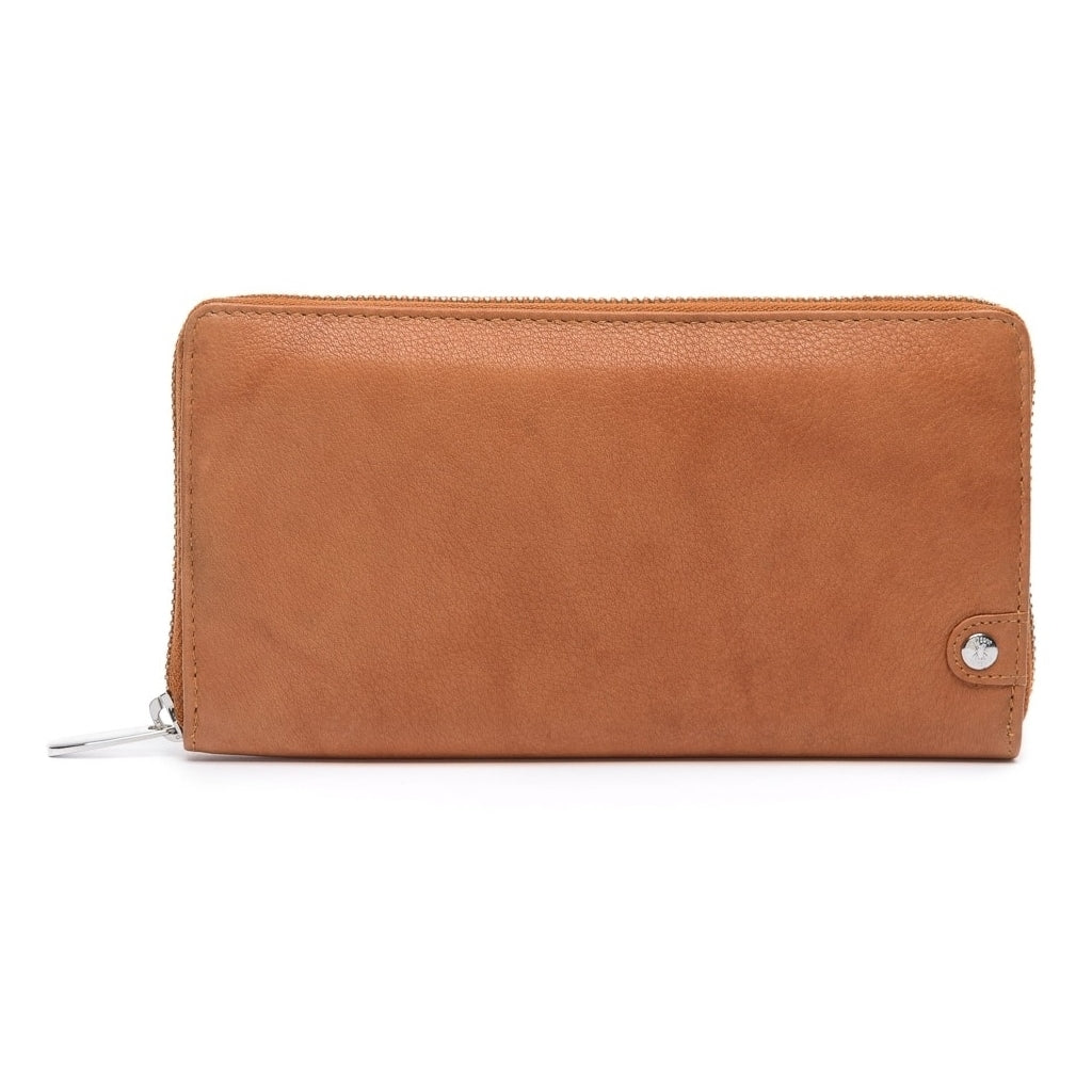 Large Tan Leather Wallet by Depeche