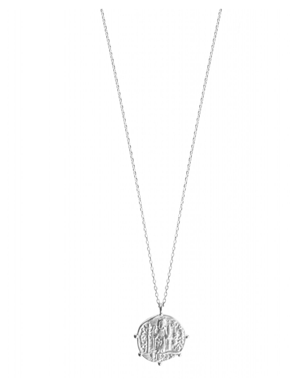 Lady Justice Necklace in Silver by Hultquist