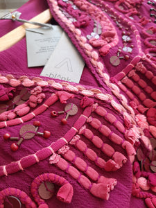 Handmade Pink Tassel Kaftan by Blnk London
