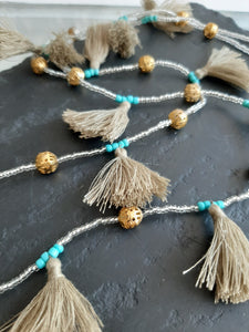 Multi Tassel Festival Necklace by Tribe & Fable