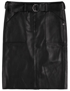 Faux Leather Skirt by Garcia