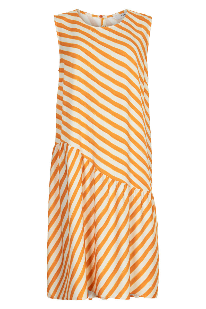 Orange & White Nubrenda Dress by Nümph