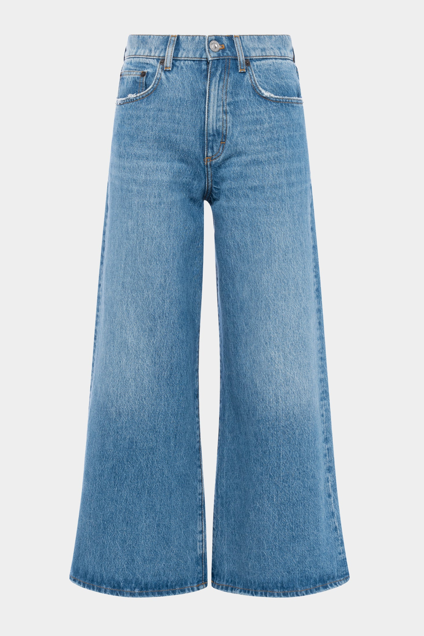 Piper Denim Cropped Wide Legged Jeans by French Connection