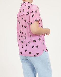 Pink Orchid Short Sleeve Blouse by Coster Copenhagen