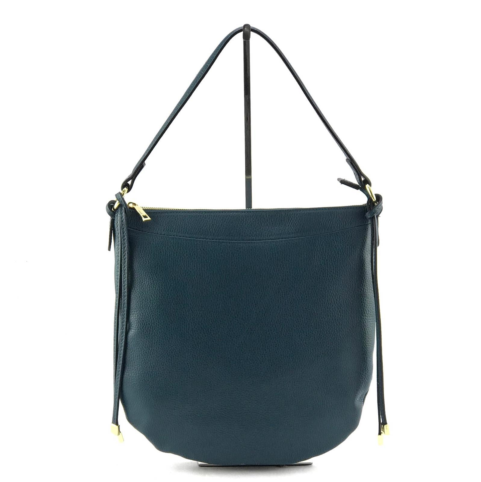 Teal Shoulder Bag by Marlon Firenze