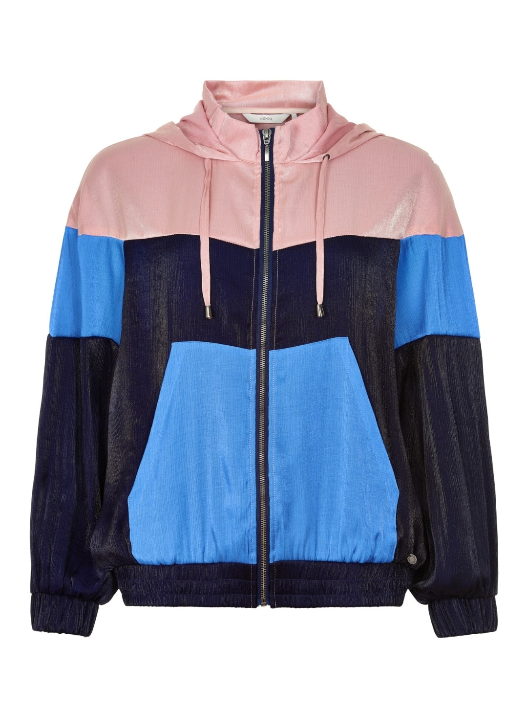 Pink and Blue Zip Up Hoody by Nümph