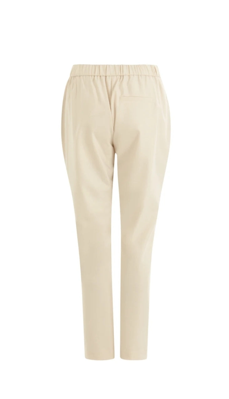 Cream Straight Legged Trousers by Coster Copenhagen