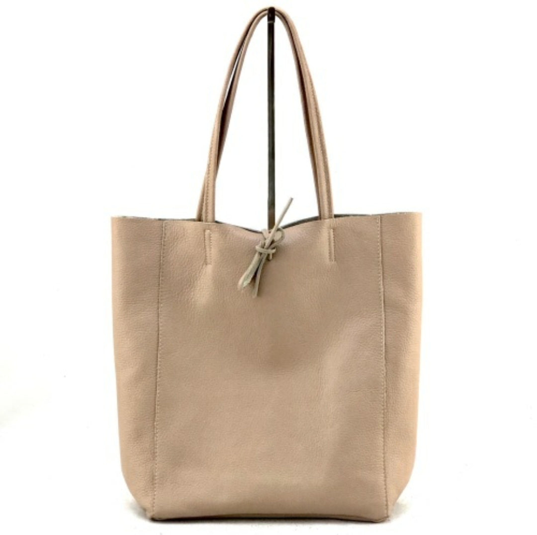 Leather Tote Shopper by Marlon Firenze