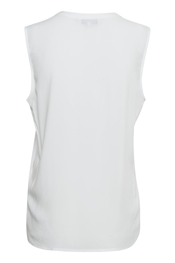 Sarah White Sleeveless Top by Part Two