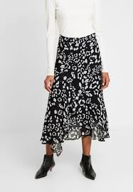 Navy & White Leopard Print Rafaela Skirt by Part Two