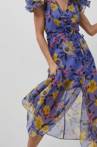 Eloise Floral Midi Dress by French Connection