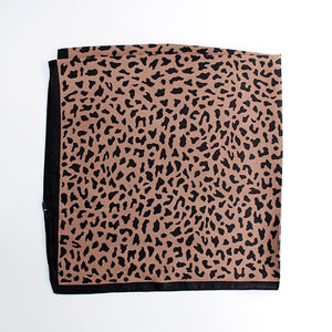 Portia Mini Leo Scarf in Mocha by Black Colour