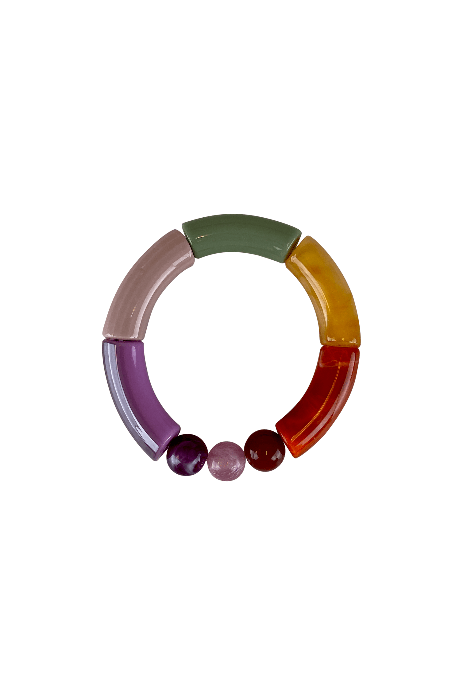 Fenja Purple Bracelet by Black Colour
