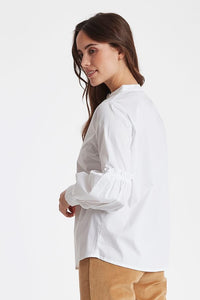 White Shirt with Frill Detail by Fransa