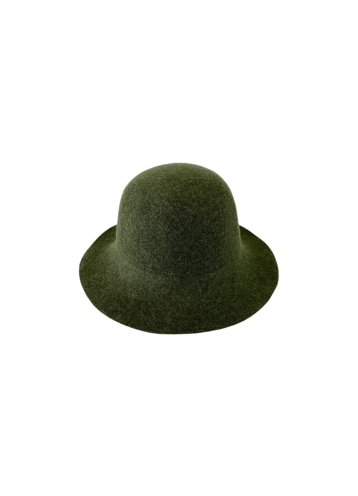North Wool Hat in Green by Black Colour