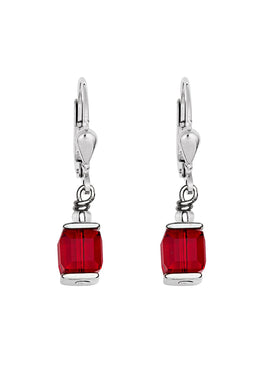Cube Drop Earrings with Swarovski® Crystals 0094 - 10 colours