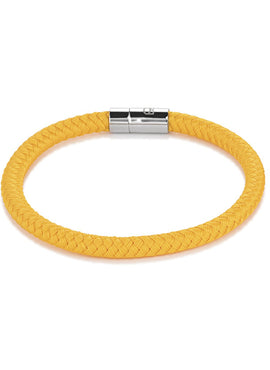 Braided textile bracelet yellow 0115_31_0100