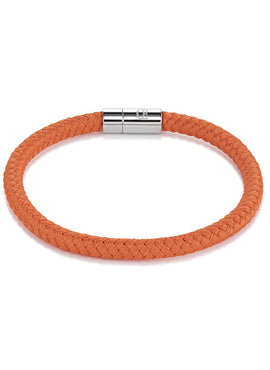 Braided textile bracelet orange 0115_31_0200