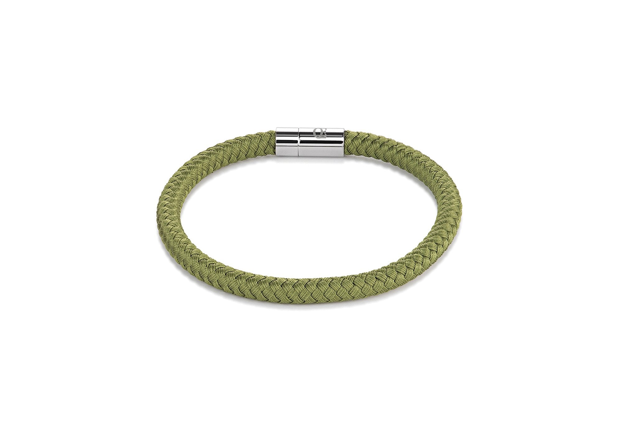 Braided textile bracelet green 0115_31_0500