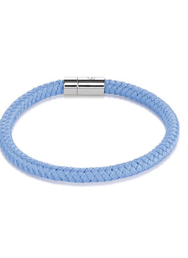 Braided textile bracelet light blue 0115_31_0720