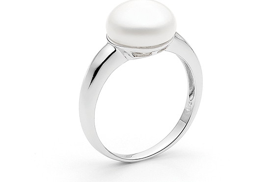 10.5-11mm Button Freshwater Pearl Ring