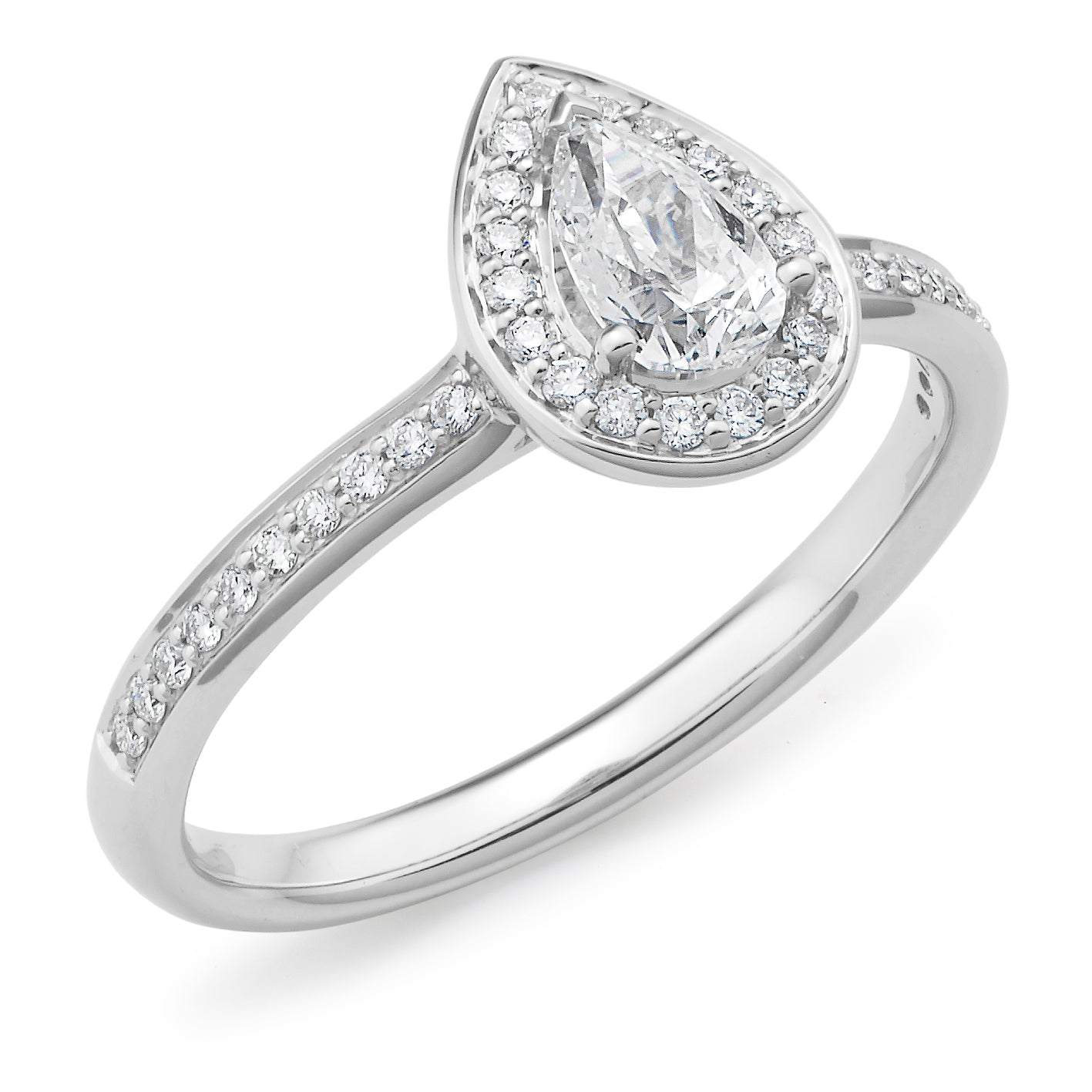 Diamond Claw/Bead Set Diamond Engagement Ring