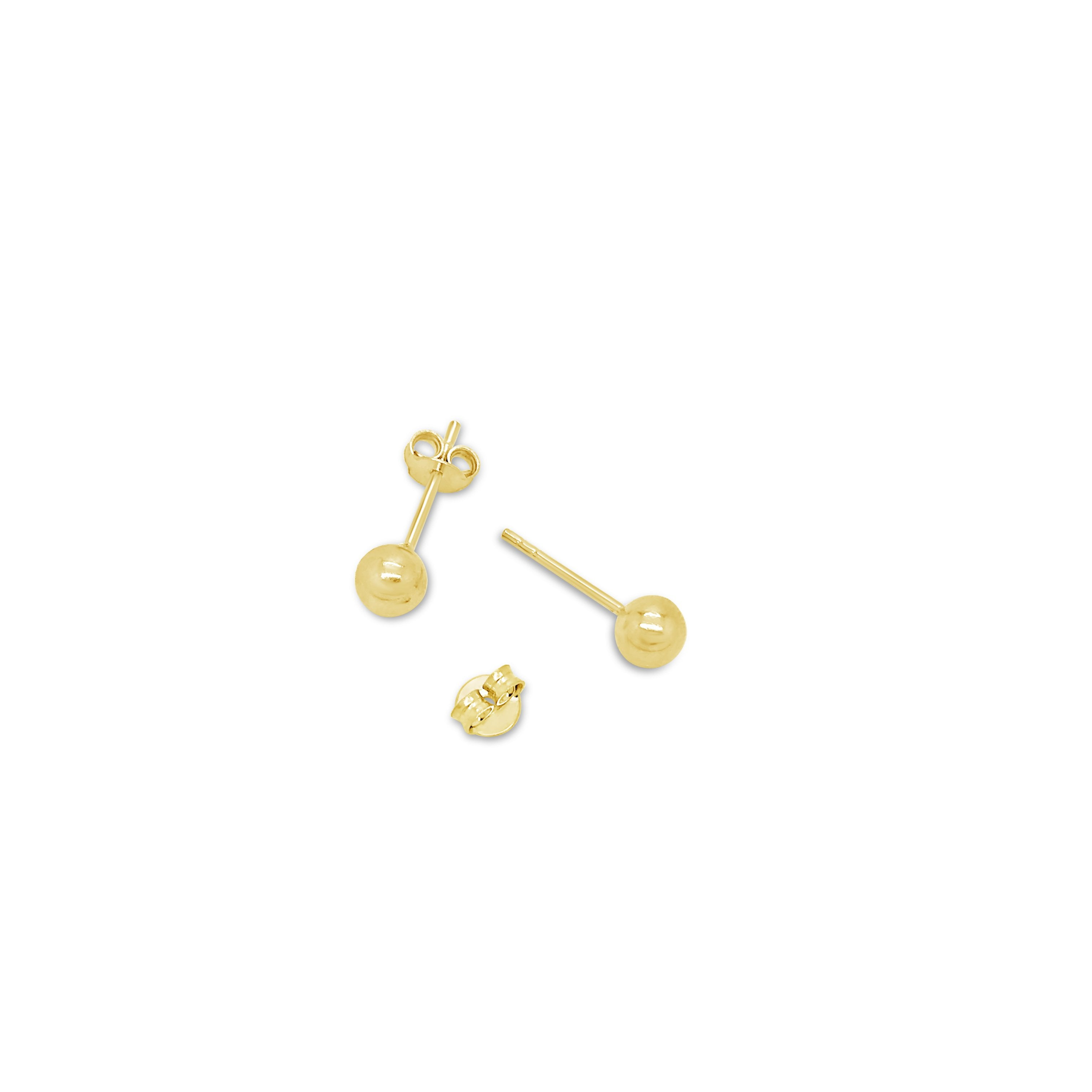 SMALL GOLD BALL STUDS