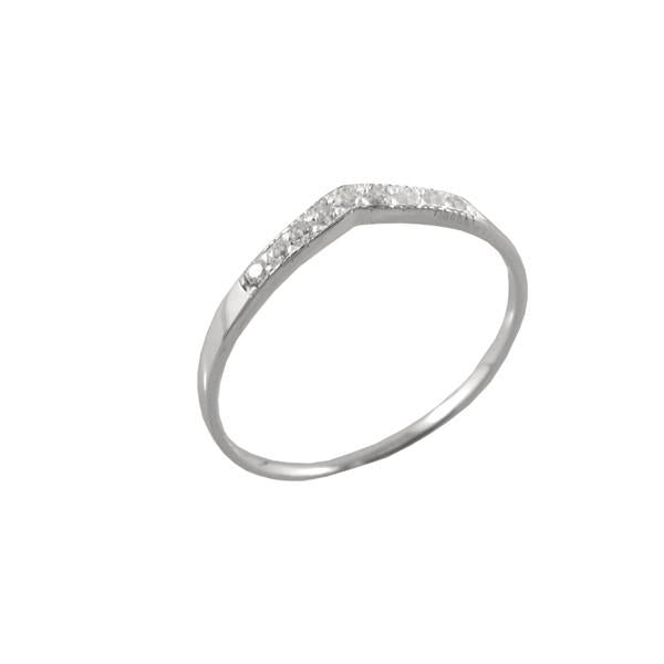 CUBIC ZIRCONIA POINT RING
