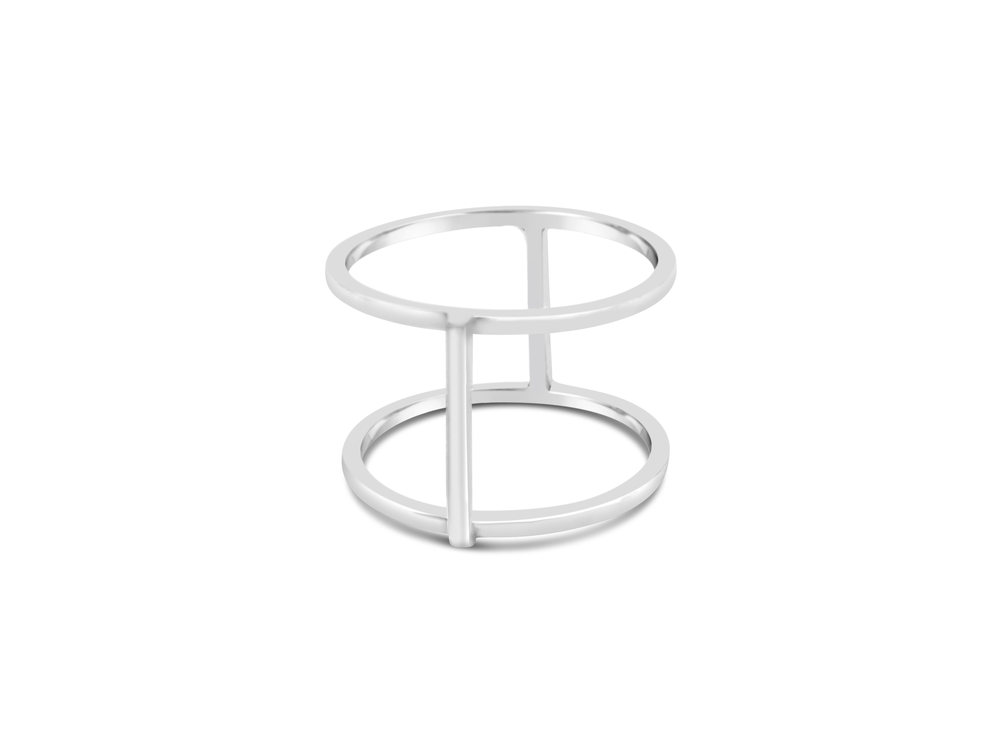 OPEN DOUBLE BAR RING